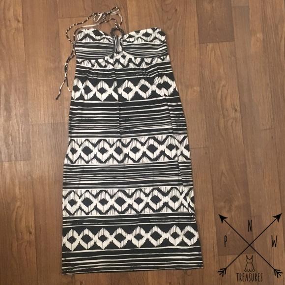 Enfocus Studio Dresses & Skirts - Plus Size - Strapless Halter Tie Maxi dress Sz 14